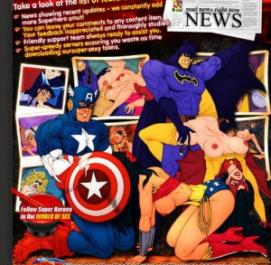 Hot Superheroes  – new toon blog!