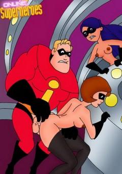 Incredibles porn orgy comics now! - Incredibles Nude SuperHeroes XXX Comics