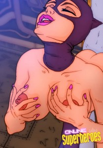 Nude super hero is Catwoman