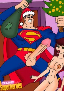 Marvel heroes porn party with Superman